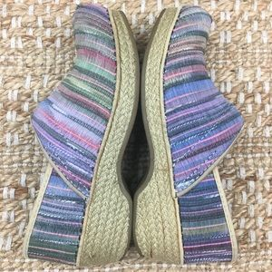 Dansko Multicolor Vegan Jute Pro Stapled Clogs